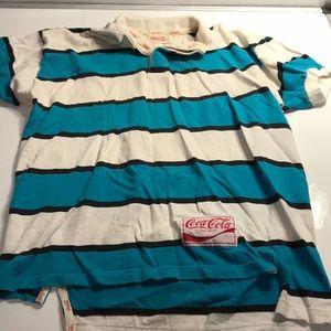 Coca-Cola Vintage 1980s Striped Shirt Size Large??